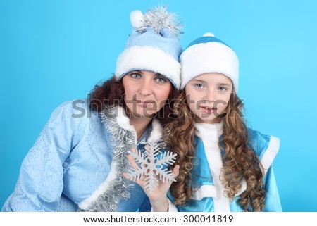 two pretty Christmas Snow Maidens