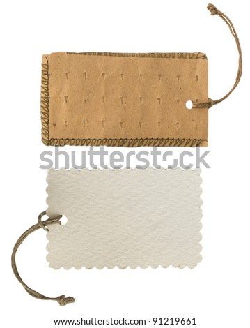 two price tags - stock photo