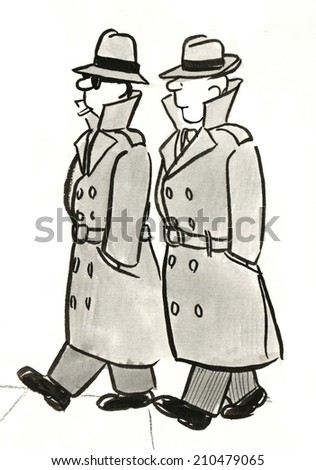 Two private eyes. - stock photo