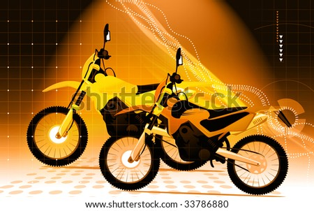 Two racing bikes in different colours