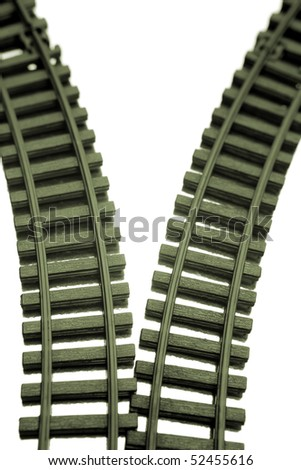 Two railway tracks
