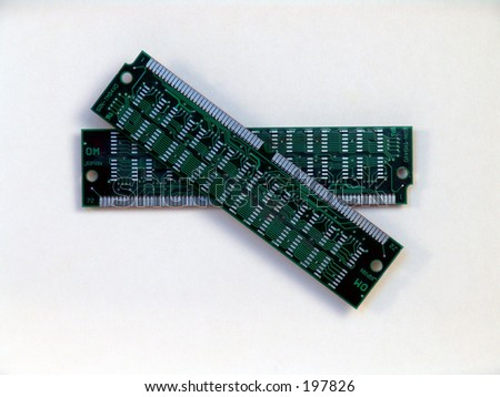 two ram chips - stock photo