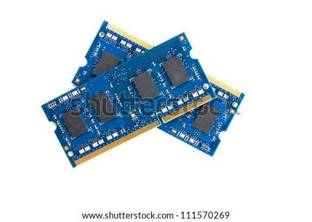 Two RAM modules on top of each other - stock photo