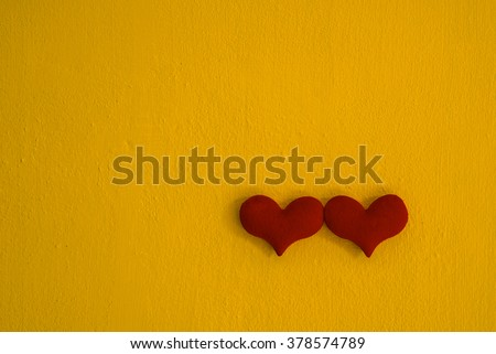 two red heart colorful  background concept love valentine - stock photo