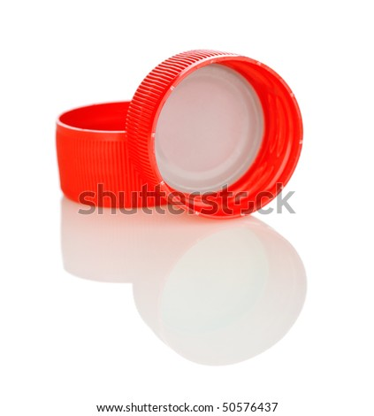 two red lid isolated - stock photo