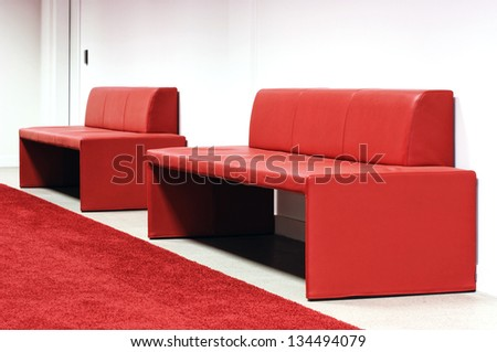 Two Red Sofas
