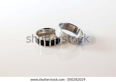 Two rings isolated on white background.