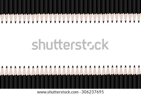 Two Rows of black pencils