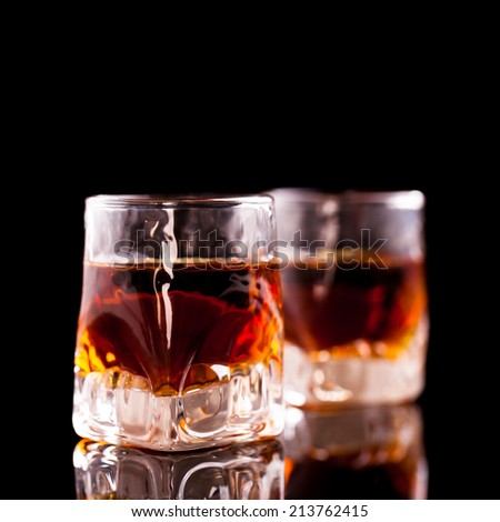 two rum shots - stock photo