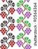 two seamless embroidered good like handmade cross-stitch ethnic Ukraine pattern. Raster version over 20MPx - stock photo