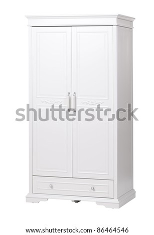 Two-section wardrobe isolated on white, with clipping path - stock photo