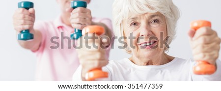 Two seniors are very active and healthy