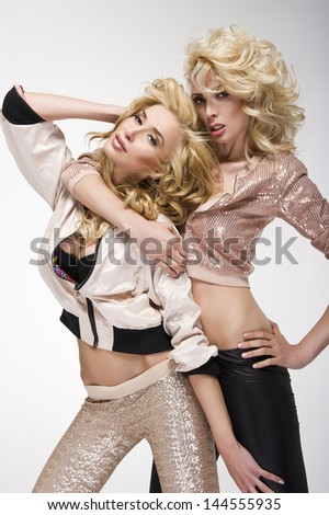 Two sexy women - stock photo