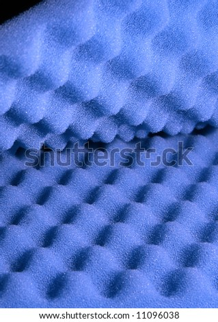 Two sheets of blue acoustic foam - stock photo