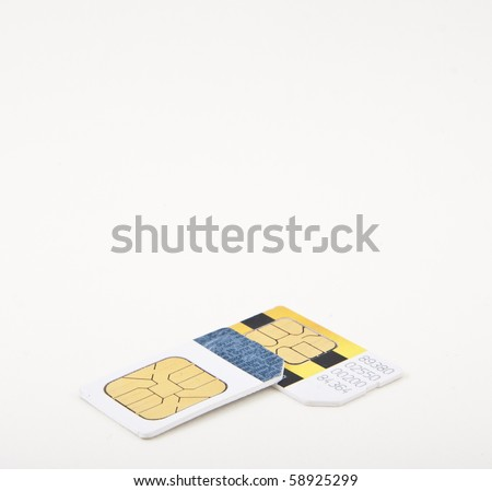 Two sim cards - stock photo