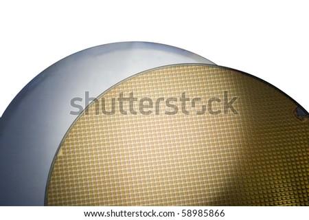 Two SIM Wafers - stock photo