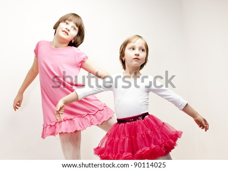 two sisters dancers - stock photo