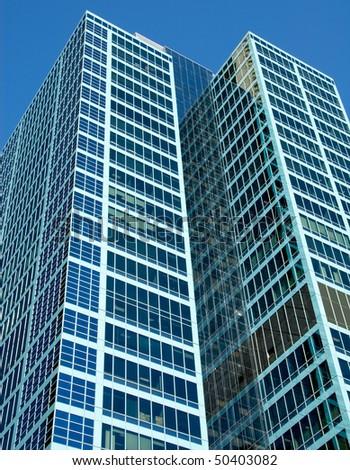 Two skyscrapers in Sydney's CBD, Australia - stock photo