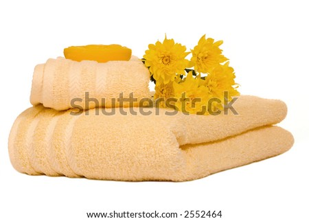 Two soft bath towels await you after your spa treatment