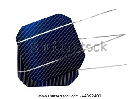 two solar cells - stock photo