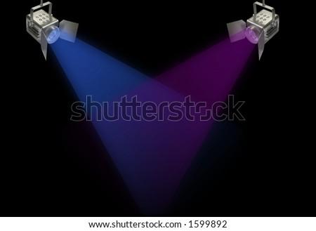 Two Spotlights - stock photo