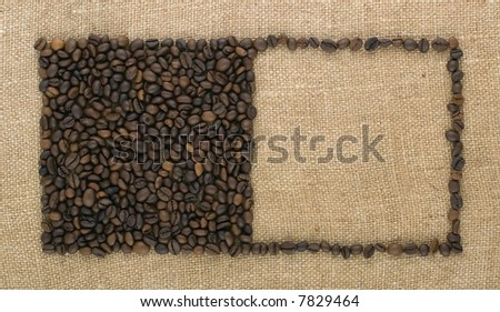 Two squares from coffee beans
