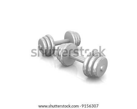 two steel weights