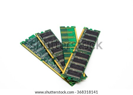 Two sticks of RAM on a white background