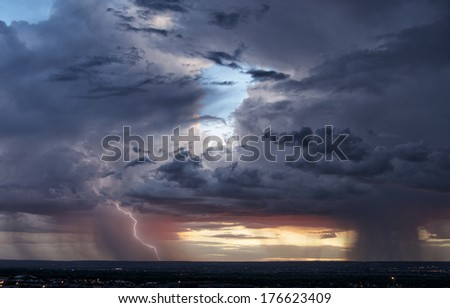 Two Storms, One Strike - stock photo