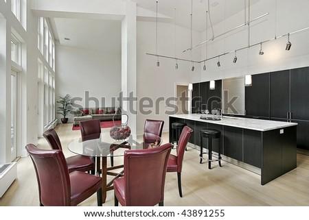 Two story luxury kitchen - stock photo