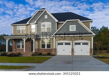 Two story residential house - stock photo