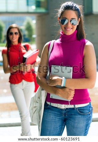 two students - stock photo