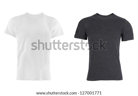 two T-shirt isolated - stock photo