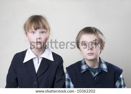 two teenagers - stock photo