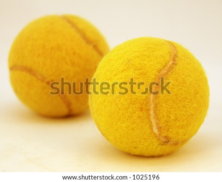 Two tennis balls - stock photo