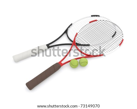 Two tennis rackets - stock photo