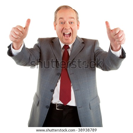 Two Thumbs Up!! - stock photo