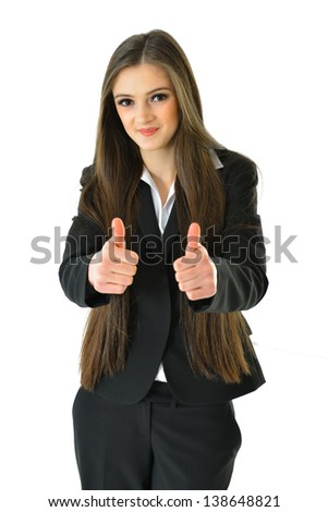 Two Thumbs Up for Success - stock photo