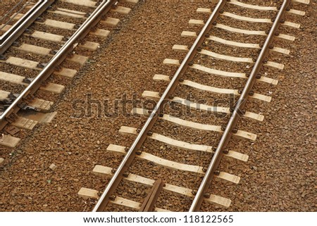 Two train rails next to eachother