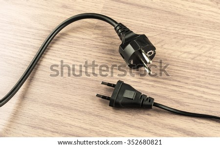 Two Types Electrical Plug On Background Stock Photo (Royalty Free ...