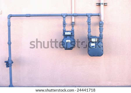 Two utility meters - stock photo