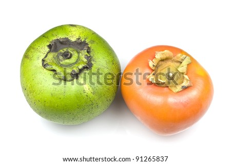 Two varieties of sapote - stock photo