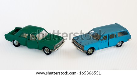 Two vintage russian car scale models made in USSR.