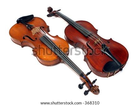 Two violins - stock photo
