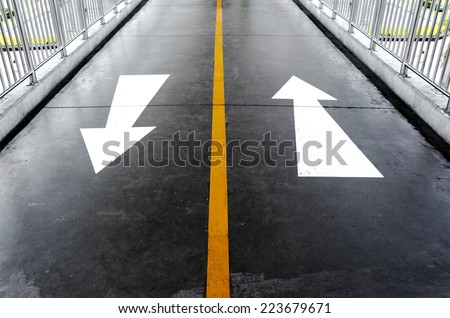 Two way arrows on background - stock photo
