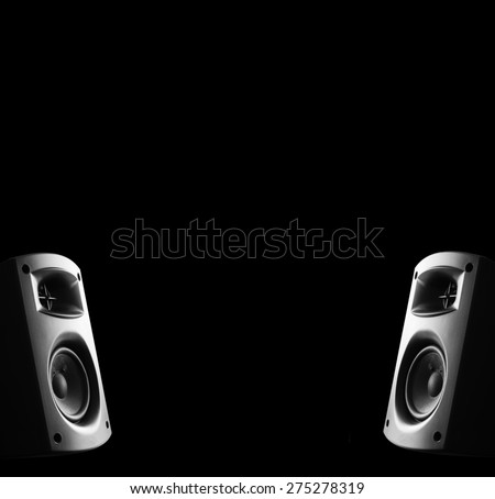 Two way modern music speakers - stock photo