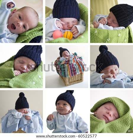 Two weeks old baby. - stock photo