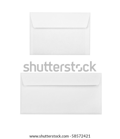 Two white envelopes - stock photo