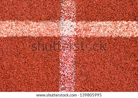Two white line forming a cross on red background - stock photo