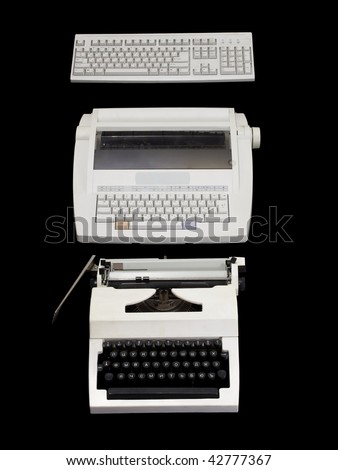 The differences between a computer and a typewriter